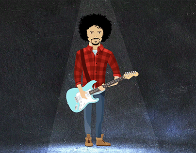 Short Animation of a Talented Musician