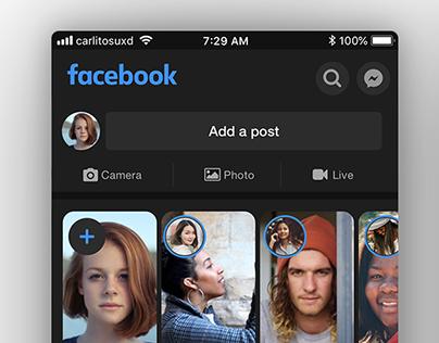 Facebook - Dark theme concept