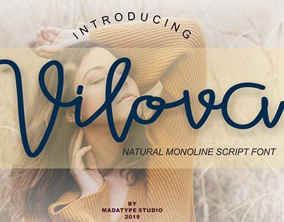Vilova monoline script font