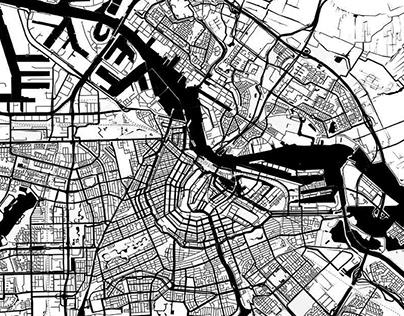 Black Water City Map