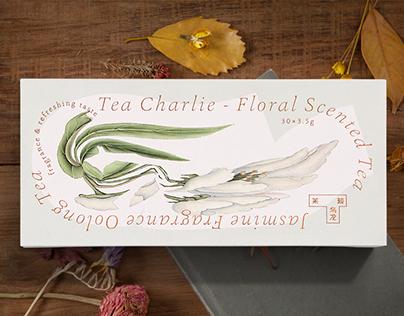 Tea Charlie Floral Scented Tea Package Design