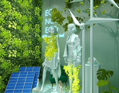 Bloomingdale's Dubai Mall Window 2020