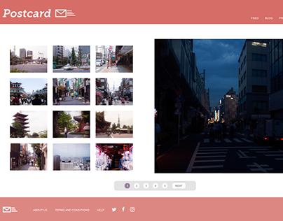 Postcard - Adobe XD Challenge Day 3