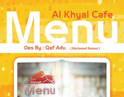 Alkhyal Cafe Menu Des By : Qaf Adv