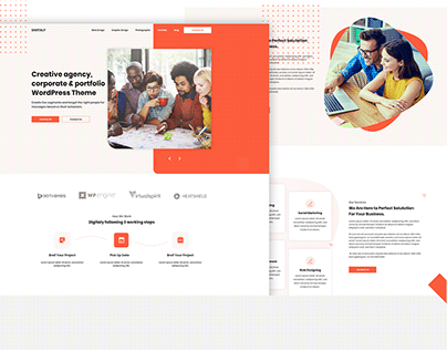 Agency Landing Page Design.