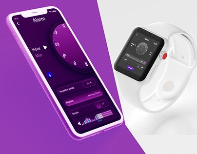 Alarm App, Website and Watch Design (Quick Design)