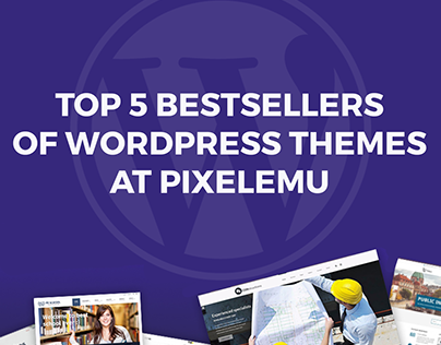 Top 5 bestsellers of WordPress themes