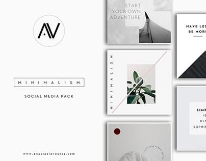 MINIMALISM   Social Media Pack