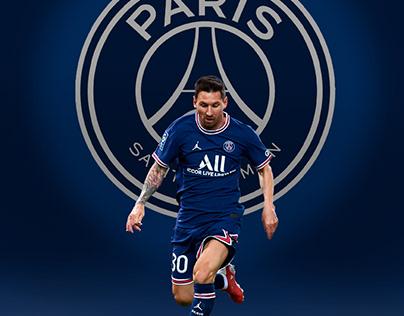 Poster Messi PSG.