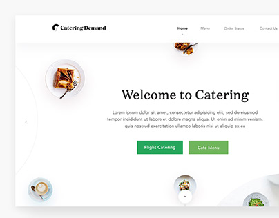 Catering Demand Website Design & Dashboard Design