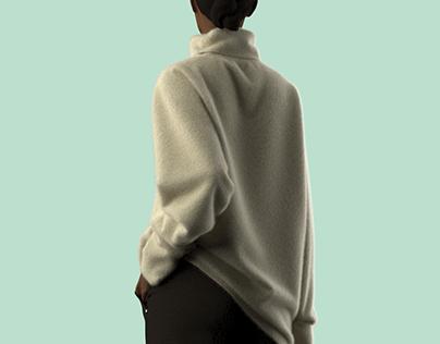 Mohair_high_neck_sweatshirt+corduroy_pants