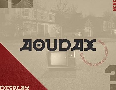 AOUDAX | Free Sans Serif Display Typeface