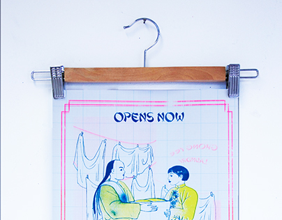 Collaboration Laundromat Calendar Poster