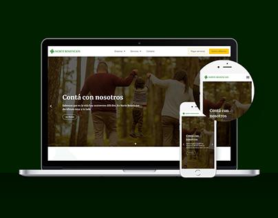 Norte Beneficios - Diseño Web