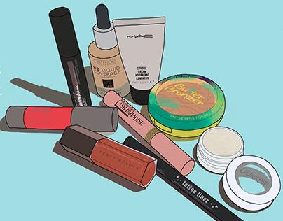 Make Up Products Digital Illustrations