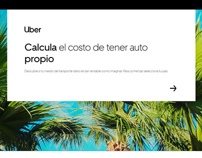 "UBER ""Cuanto me cuesta mi auto"" - Site"