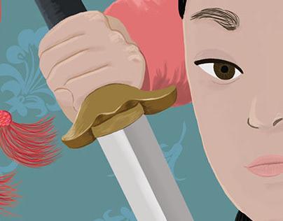 Qiu Jin - Ilustración digital
