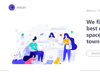 Spacey: Web design