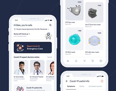 Covid-19 Helper App Concept