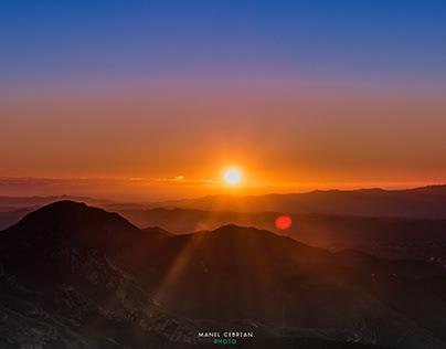 Sunrise in Montserrat