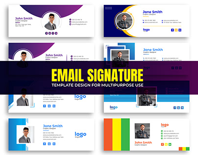 Email Signature Template Design for Multipurpose Use.