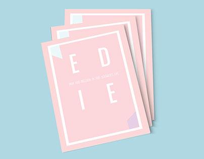 Edie Sedgwick Typography Booklet