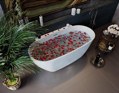 Рекламная 3D визуализация ванны