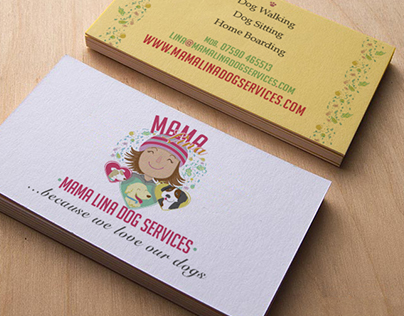 Illustrated Business Cards no.2: Mama Lina Dog Services