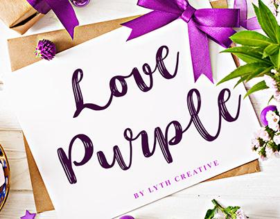 Love Purple Font