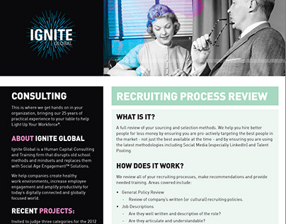 Flyer designs for Ignite Global