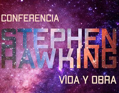 Cartel conferencia Hawking