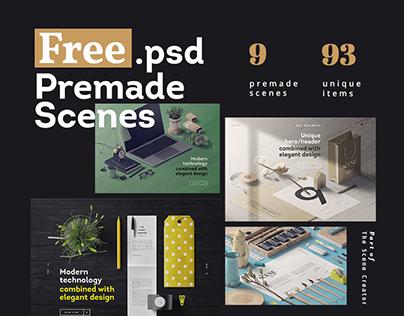 FREE.psd Premade Scenes