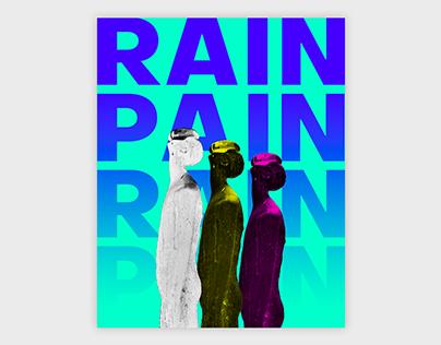 Rain - Pain acid poster
