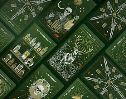 Jägermeister Tarot deck Illustrations