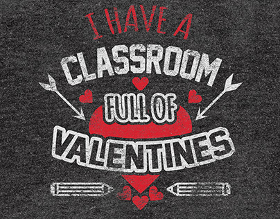 T-Shirt Design for Students on Valentines