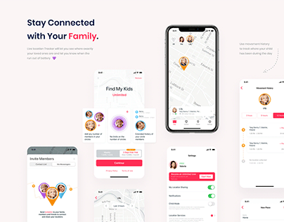 Find My Kids | Family Geolocator | UX / UI Design