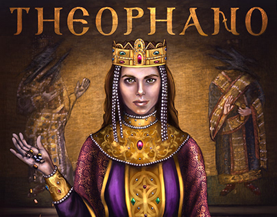 Cover of my graphic novel Theophano: A Byzantine Tale