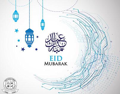 Creative Technology Circuit Moon wishing EID MUBARAK