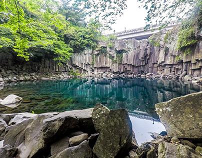 Cheonjeyeon Waterfall, Seogwipo, Jeju Island