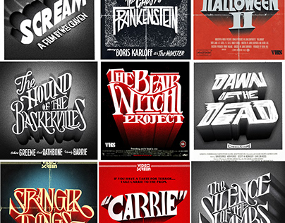 Halloween/ Horror Movie Typographic Title Poster Series