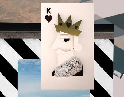 King of hearts. Illustration