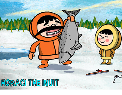 "Backgrounds design 2D ""Horaci THE INUIT"" (IMAGIC)"