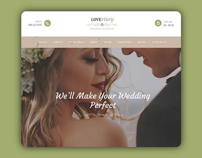 LoveStory - Weeding Planner website landing page