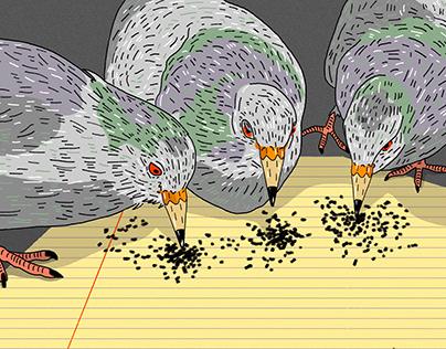 Pointillists pigeons