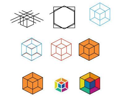 Prague Lux 3D icon logo construction