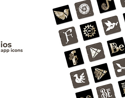 Steampunk and Medieval ios 14 Icons