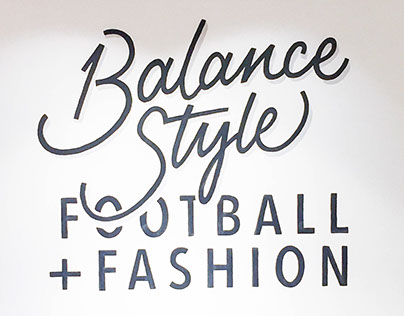 Balance Style wall lettering