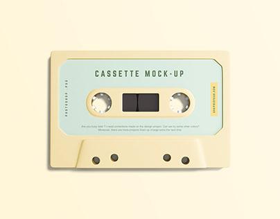 Free PSD Cassette Mockup