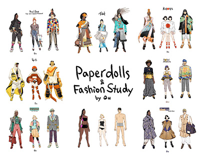 Paper Doll & Fashion Study