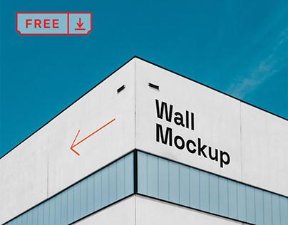 Free Building Wall Mockup